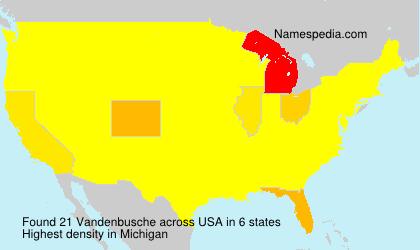 Surname Vandenbusche in USA