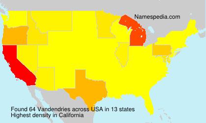 Surname Vandendries in USA