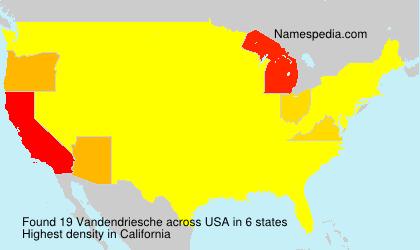 Surname Vandendriesche in USA