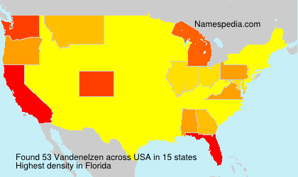 Surname Vandenelzen in USA