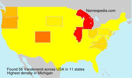 Surname Vandenend in USA