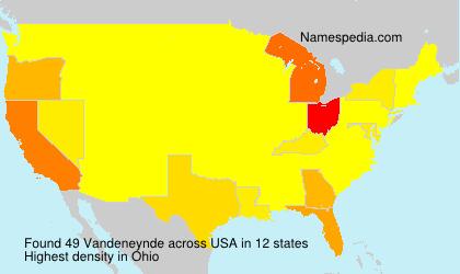 Surname Vandeneynde in USA