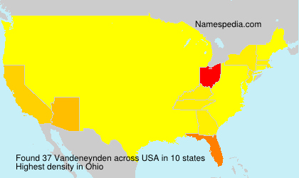 Surname Vandeneynden in USA