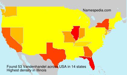 Surname Vandenhandel in USA