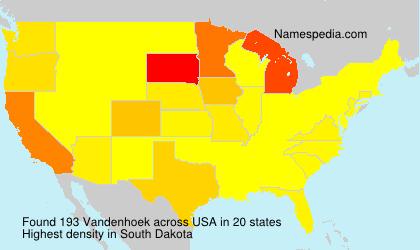 Surname Vandenhoek in USA