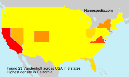 Surname Vandenhoff in USA