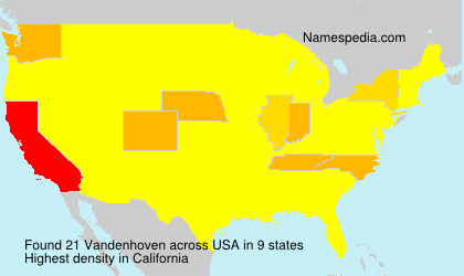 Surname Vandenhoven in USA