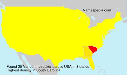 Surname Vandenmeiracker in USA