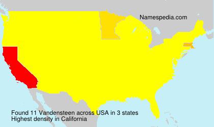 Surname Vandensteen in USA