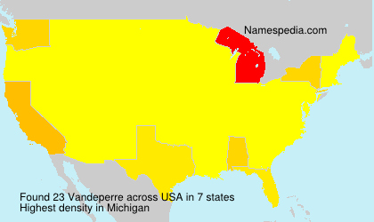 Surname Vandeperre in USA