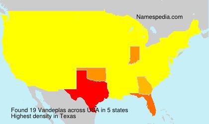 Surname Vandeplas in USA