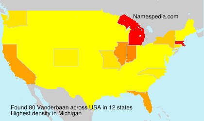 Surname Vanderbaan in USA