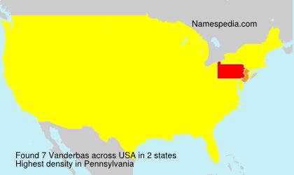 Surname Vanderbas in USA