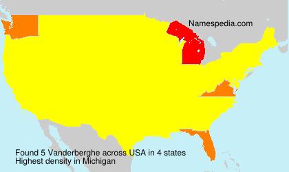 Surname Vanderberghe in USA