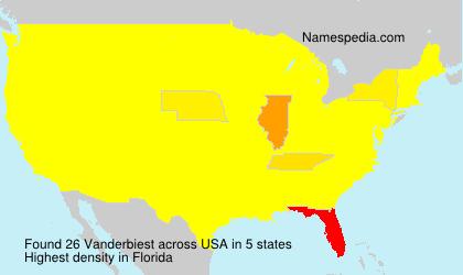 Surname Vanderbiest in USA