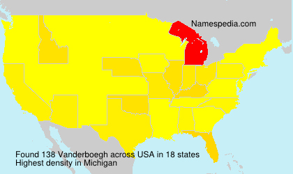 Surname Vanderboegh in USA