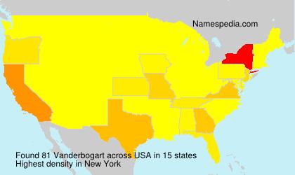 Surname Vanderbogart in USA