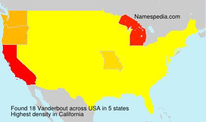 Surname Vanderbout in USA