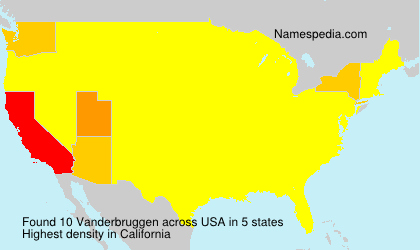 Surname Vanderbruggen in USA