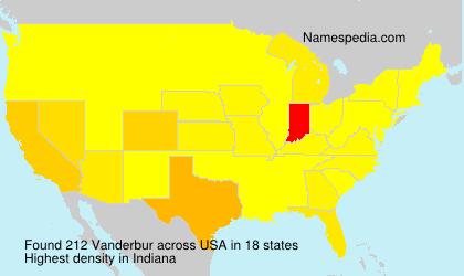 Surname Vanderbur in USA