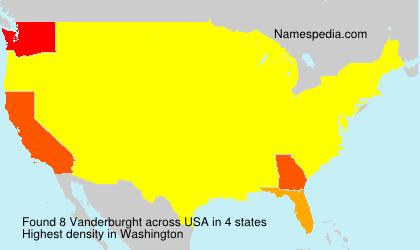 Surname Vanderburght in USA