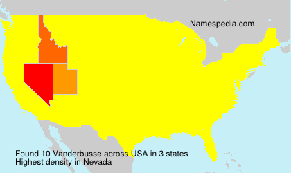 Surname Vanderbusse in USA