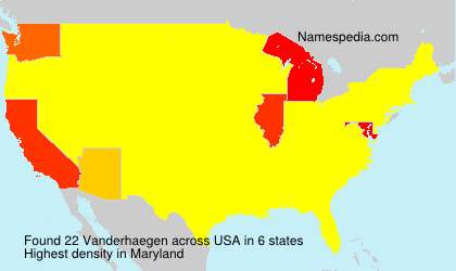 Surname Vanderhaegen in USA