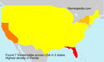 Surname Vanderlubbe in USA