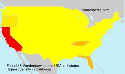 Familiennamen Vandertouw - USA