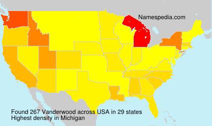 Familiennamen Vanderwood - USA