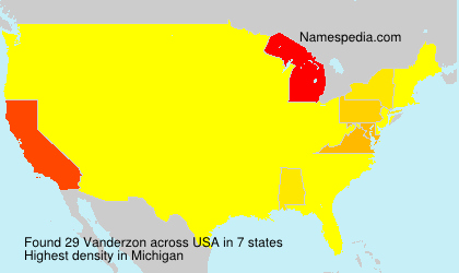Surname Vanderzon in USA