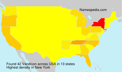 Surname Vandixon in USA