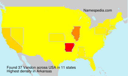Surname Vandon in USA