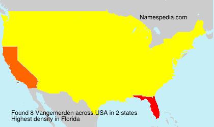 Familiennamen Vangemerden - USA