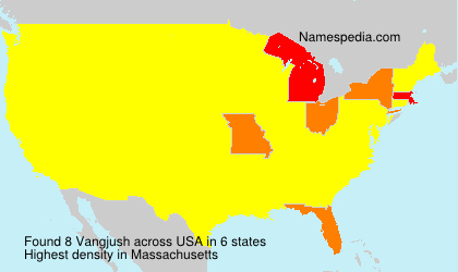 Surname Vangjush in USA