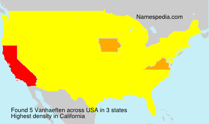 Surname Vanhaeften in USA