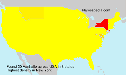 Surname Vanhalle in USA