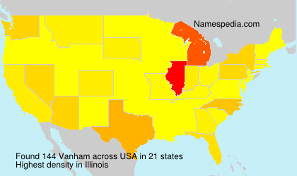 Surname Vanham in USA