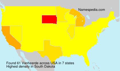 Surname Vanheerde in USA