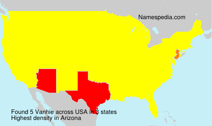 Surname Vanhie in USA