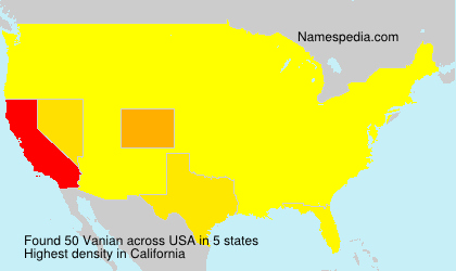 Surname Vanian in USA
