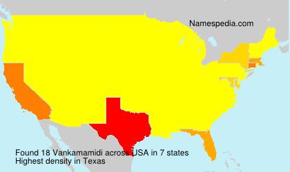 Familiennamen Vankamamidi - USA
