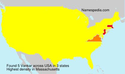 Surname Vankar in USA