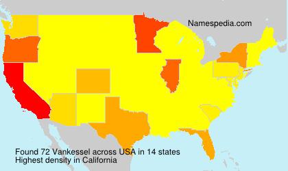 Familiennamen Vankessel - USA