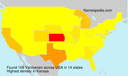 Surname Vanloenen in USA