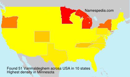 Surname Vanmaldeghem in USA