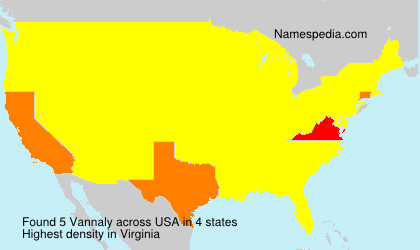 Surname Vannaly in USA