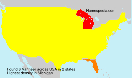 Familiennamen Vanneer - USA