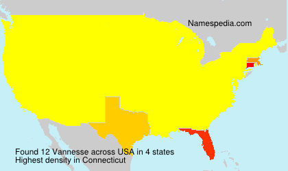 Surname Vannesse in USA