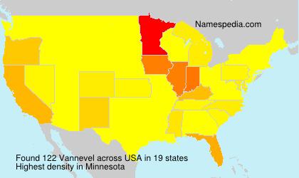 Familiennamen Vannevel - USA